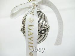 David Yurman 2000 Millennium Sterling Silver Christmas Ornament