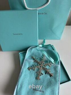 Décoration de sapin de Noël Tiffany & Co Ornament Argent Snowflake