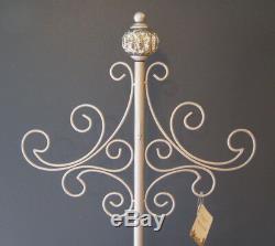 Dillard's Christmas Mercury Glass Ornament Silver Metal Wreath Holder Stand