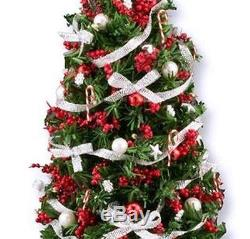 Doll House Shoppe Lighted Silver Red Ultimate Christmas Tree dhs49233 Miniature