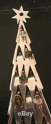 Emilia Castillo Signed Sterling Silver & Stone Christmas Tree Ornament Mexico