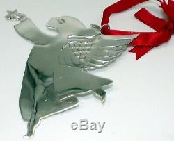 Emilia Castillo Sterling Silver Signed Flying Angel Christmas Ornament 43 Grams