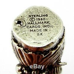 English Christmas Caroler Ornament Sterling Silver 1980