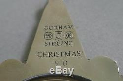 First Gorham Sterling Snowflake 1970 Christmas Ornament With Velvet Bag & Box