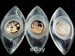 Franklin Mint Heirloom Edition 12 Twelve Days of Christmas Ornaments 925 Silver