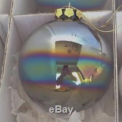 Frontgate Christmas Ornaments 16pc Set Hand Blown Icy Theme By Jim Marvin