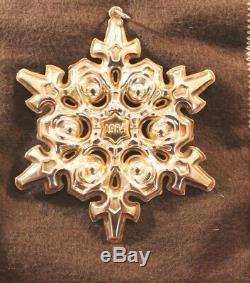 GORHAM 1980 1981 1982 1983 1984 Sterling Silver Snowflake Christmas Ornaments