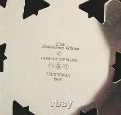 GORHAM 1990 1991 1992 1993 1994 Sterling Silver Snowflake Christmas Ornaments
