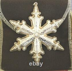 GORHAM 1995 1996 1997 1998 1999 Sterling Silver Snowflake Christmas Ornaments