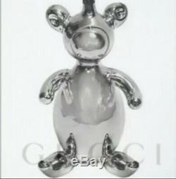 GUCCI Homeware Glass Silver Teddy Bear Christmas Decorations Tom Ford Era