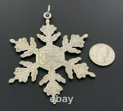 Gianmaria Buccellati Italy Sterling Silver 925 1995 Annual Christmas Ornament