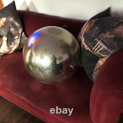 Giant Fibreglass Ball Bauble Silver Decoration Prop Christmas Funky