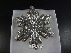 Gorham 1970 1971 1972 1973 1974 Sterling Silver Snowflake Christmas Ornaments