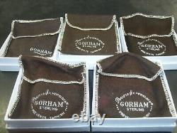 Gorham 1970 1971 1972 1973 and 1974 Sterling Snowflake Christmas Ornaments