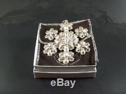 Gorham 1970 1971 1972 1974 1976 Sterling Silver Snowflake Christmas Ornaments