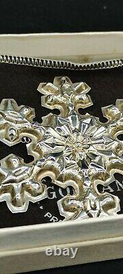Gorham 1974, 1975,1976 Sterling Snowflake Christmas Ornaments