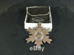 Gorham 1975 1976 1977 1978 1979 Sterling Silver Snowflake Christmas Ornaments