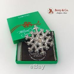 Gorham 1981 Christmas Ornament Snowflake Sterling Silver