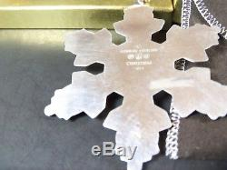 Gorham 1997 and 1998 Sterling Silver Snowflake Christmas Ornament