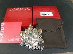 Gorham 2015 2016 and 2017 Sterling Silver Snowflake Christmas Ornament