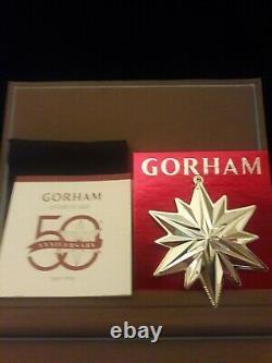 Gorham, 2019 Annual Snowflake Sterling Silver Ornament, 50th Anniv Edt. Mib