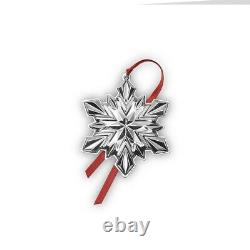 Gorham 2020 51st Edition Snowflake Ornament, 4 inches, Sterling Silver