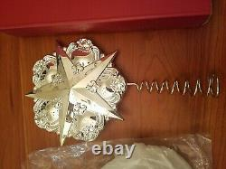 Gorham Chantilly Silver Star Christmas Tree Top Topper Ornament Decoration Withbox