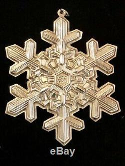 Gorham Christmas Snowflake Ornament Sterling 20th/25th Anniversary Lot 1990, 95