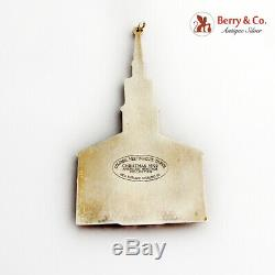 Gorham Colonial Meetinghouse Church Christmas Ornament Sterling Silver 1992