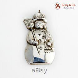 Gorham Snowman Christmas Ornament Sterling Silver 1986