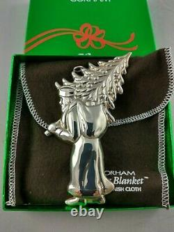 Gorham St. Nick Sterling Silver Christmas Figural Ornament Mint, Unused withbox, bag