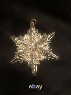 Gorham Sterling Silver 1970 1971 1972 1973 1974 1975 Snowflake Ornament