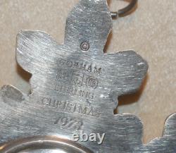 Gorham Sterling Silver 1970 1971 1972 1973 1974 1975 Snowflake Ornaments # DB02