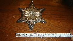 Gorham Sterling Silver 1970 Snowflake Christmas Ornament 1st in series