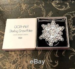 Gorham Sterling Silver 1971 Snowflake Christmas Ornaments (5) Original Boxes