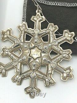 Gorham Sterling Silver 1981 Annual Snowflake Ornament, with box