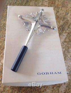 Gorham Sterling Silver 440 Cross Christmas Tree Topper Ornament Cross Starburst