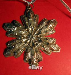 Gorham Sterling Silver Snowflake Ornament Mib 1974