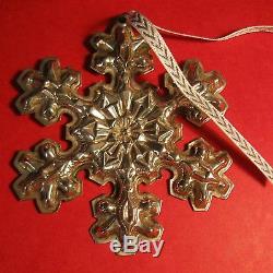 Gorham Sterling Silver Snowflake Ornament Mib 1976