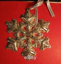 Gorham Sterling Silver Snowflake Ornament Mib 1985