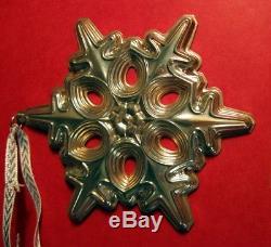 Gorham Sterling Silver Snowflake Ornament Mib 1991
