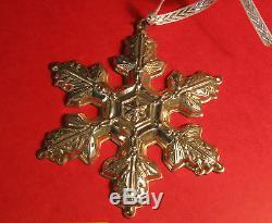 Gorham Sterling Silver Snowflake Ornament Mib 1997