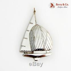Gorham Twelve Meter Yacht Christmas Ornament Sterling Silver 1987