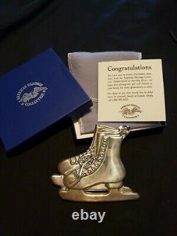 Gorham sterling Silver Christmas Ornament American heritage Ice Skates Rare