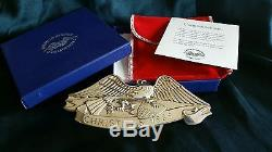 Gorham sterling silver christmas ornament american heritage eagle