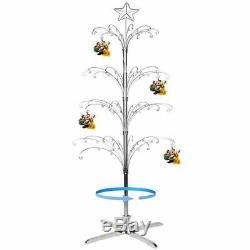 HOHIYA Ornament Display Tree Stand Metal Christmas Rotating Glass Dog Cat Bal