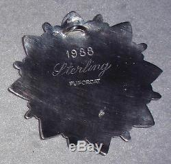 HTF 1988 Puiforcat Orfrévre Paris Sterling Silver Snowflake Christmas Ornament