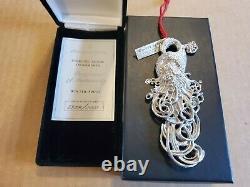 HTR 1997 Christopher Radko Sterling Silver Winter Spirit Christmas Ornament NEW