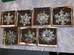 HUGE 37 Gorham Sterling Silver Snowflake Christmas Set 1970-2006 Ornament