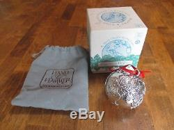 H & H Hand & Hammer Precious Planet Sterling Silver Christmas Ornament